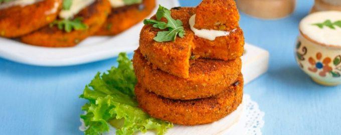 Vegetariški morkų kotletai