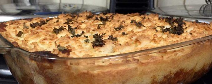 Veganiškas piemenų pyragas su lęšiais ir pievagrybiais