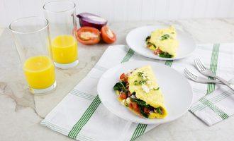 Prancūziškas omletas su daržovėmis